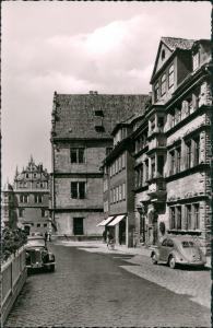 Ansichtskarte Coburg Am Zeughaus Mercedes VW Käfer Beetle 1963