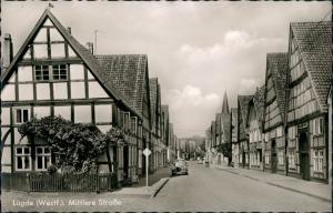 Ansichtskarte Lügde (Westfalen) Mittlere Straße 1960