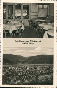 Ansichtskarte Oberspay-Spay Gasthaus und Metzgerei Anton Knep. 1951