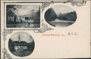 Ansichtskarte Berreuth-Dippoldiswalde 3 Bild: Schloß, Mühle 1907