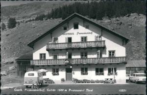 Galtür Gasthaus Paznaunerhof, Unterkunft, Volkswagen Bully, Autos 1960