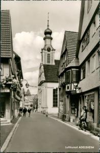Ansichtskarte Adelsheim Straßenpartie - Werbung Schwimmbad 1964