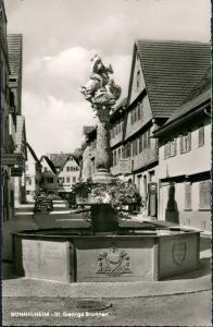 Ansichtskarte Bönnigheim Straße - Auto 1964