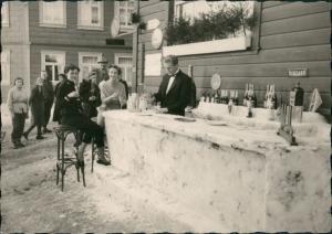 Ansichtskarte Sankt Andreasberg-Braunlage Straßenpartie - Schneebar 1954