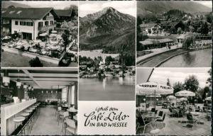 Ansichtskarte Bad Wiessee CAFÉ LIDO Mehrbildkarte 5 Echtfoto-Ansichten 1960