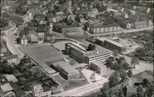Essen (Ruhr) Luftbild Luftaufnahme Überflug Limbecker Platz 1955