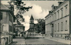 Ansichtskarte Renchen Straßen Partie mit Personen i.d. Hauptstrasse 1955