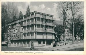 Baden-Baden Straßen Partie am Staatl. Krankenhaus