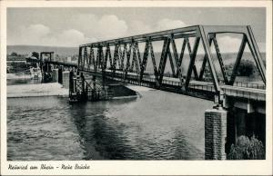Ansichtskarte Neuwied (Rhein) Neue Brücke, Stahlbrücke, Bridge 1954