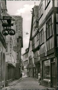 Wertheim Eichelgasse, Bäckerei, Elektro-Geschäfter Schäfer uvm. 1960