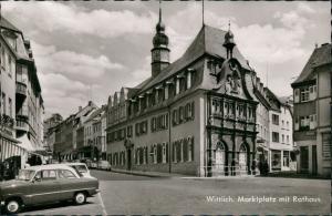 Ansichtskarte Wittlich Marktplatz, Rathaus, Strassen Partie Autos Auto 1963