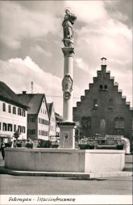 Ansichtskarte Schongau Strassen Partie am Marienbrunnen, Brunnen 1960