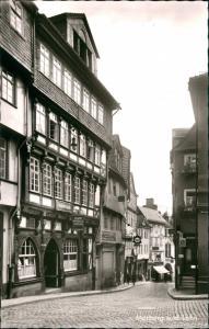 Marburg an der Lahn Häuser Partie Reitgasse mit Kneipen, Lokal, Gaststätte 1960