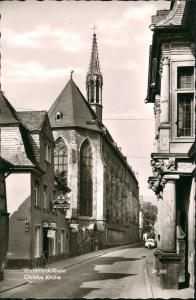 Ansichtskarte Andernach Christus Kirche, Burgtor Kneipe, VW Käfer 1960