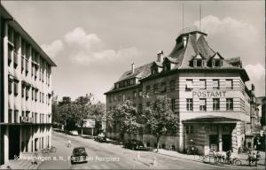 Villingen-Villingen-Schwenningen Partie am Postplatz, Post, Postamt Gebäude 1960