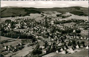 Ansichtskarte Hilchenbach Luftbild Überflugkarte Luftaufnahme 1961