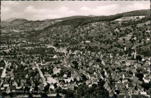 Laudenbach (Bergstraße) Luftbild Überflug des Dorfes, Luftaufnahme,  1959