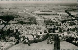 Lüchow (Wendland) Lüchow Hann. vom Flugzeug aus, Luftaufnahme, Luftbild 1960
