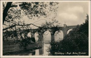 Postcard Hirschberg (Schlesien) Jelenia Góra Boberviadukt 1930