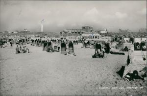 Postkaart Egmond Egmond aan Zee Strandpartie - Restaurant 1963
