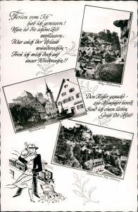 Ansichtskarte Pottenstein Mehrbild-AK mit Marktplatz, Burg, Text Motiven 1965