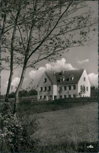 Violau Panorama Blick mit Bruder Klaus-Heim Violau Schwaben 1960