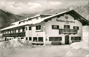 Scharling (Kreuth) Unterkunft Gästehaus HIRSCHBERG Bes. J. Högg 1972