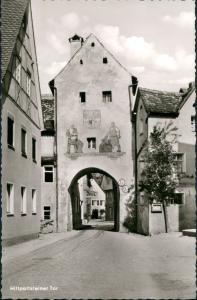 Gräfenberg Strassen Ansicht am Hiltpoltsteiner Tor, Durchfahrt 1960