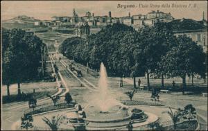 Cartoline Bergamo Viale Roma Dalla Stazione F.S. 1912