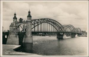 Postcard Tilsit Советск Königin-Luise-Brücke 1932