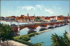 Ansichtskarte Frankfurt (Oder) Oderbrücke - Stadt 1914