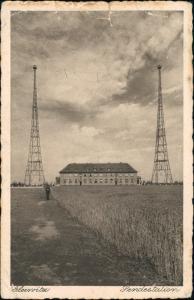 Postcard Gleiwitz Gliwice Sendestation 1932