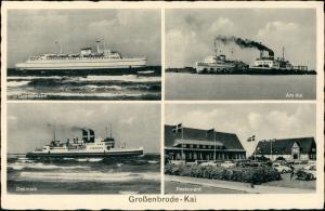 Ansichtskarte Großenbrode 4 Bild: Schiffe, Restaurant 1934