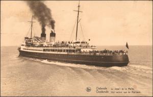 Postkaart Ostende Oostende Schiffe/Schifffahrt - Dampfer 1935