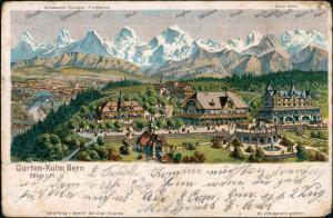 Ansichtskarte Litho AK Bern Gurten Kulm 1905