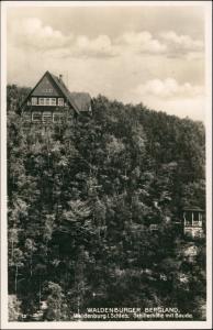 Postcard Waldenburg (Schlesien) Wałbrzych Schillerhöhe - Baude 1938