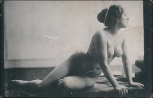 Ansichtskarte  Pose nackte Frau Fotokunst (Nackt - Nude) 1912