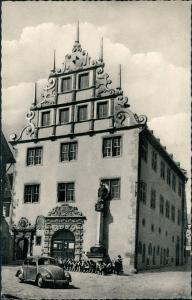 Ansichtskarte  VW Käfer Beetle Rathaus 1962
