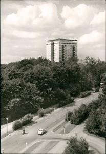 Wolfsburg Hochhaus am Eichelkamp 1971   gelaufen mit Stempel WOLFSBURG