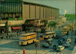 Charlottenburg-Berlin Bahnhof Zoo, Verkehr Bus Autos (VW, Mercedes, Käfer) 1980