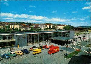 Pforzheim Hauptbahnhof Bahnhof Parkplatz div. Auto Modelle ua. VW Käfer 1970