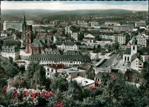 Ansichtskarte Saarbrücken Panorama-Ansicht City Innenstadt Bereich 1968