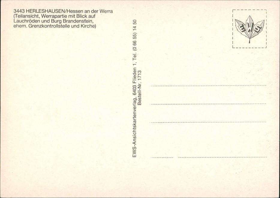 Herleshausen Mehrbild-AK Grenze Kontrollstelle BRD-DDR, Burg, Werra Partie 1980 1