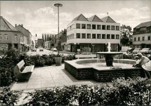 Erp-Erftstadt ERFTSTADT - LECHENICH Strassen Partie, Brunnen Wasserspiele 1960