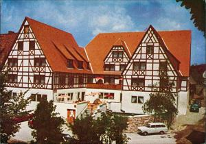 Ansichtskarte Rothenburg ob der Tauber Hotel Stadt Rothenburg Hofstatt 3 1972