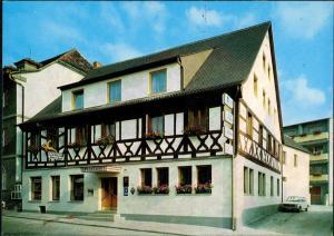 Ansichtskarte Burgebrach Hotel goldener Hirsch 1981
