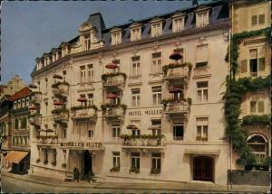 Ansichtskarte Baden-Baden Hotel Müller 1956
