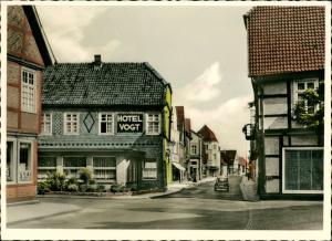 Rietberg (Westfalen) Lange Straße, Hotel Vogt col Fotokarte 1962