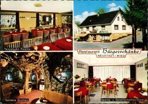 Ansichtskarte Neustadt (Wied) Speiserestaurant Bürgerschänke Mehrbild 1978