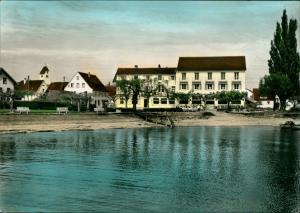 Immenstaad a. Bodensee Gasthof Seehof - colorierte Fotokarte 1966